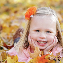 Sadie by Tony Bendele - Babies & Children Child Portraits ( child, color, autumn, happy, fall, outdoors, children, smile, people, portrait, eyes )