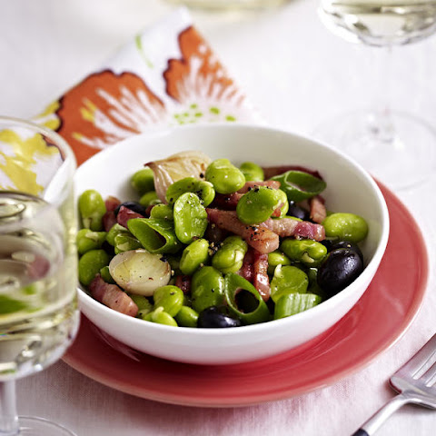 Fava Beans with Bacon and Olives