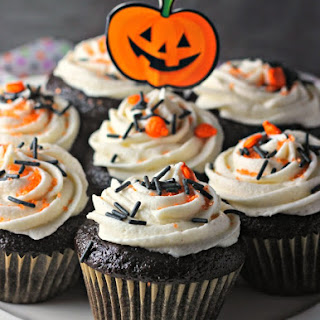 Black Magic Cupcakes with Vanilla Bean Buttercream Icing
