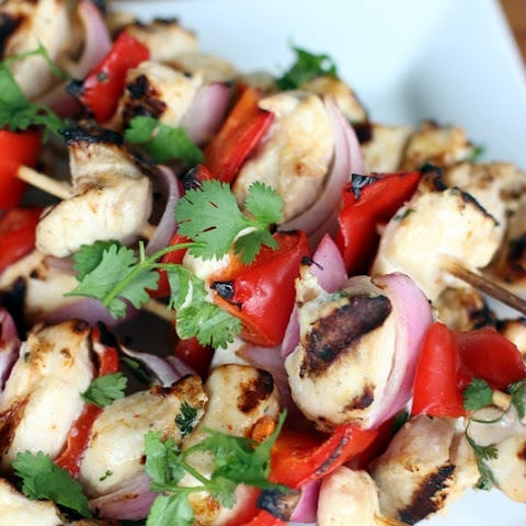 How to Make Cilantro Lemon Chicken Skewers