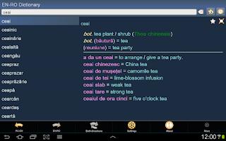 Screenshot of English Romanian Dictionary Fr