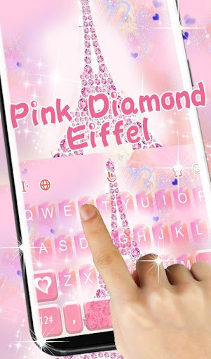 Pink Diamond Eiffel Keyboard Theme screenshot 3