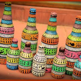 Patterns by Prasanta Das - Abstract Patterns ( bottles, patterns. painted )