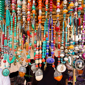 Fashion Jewelry by Amit Aggarwal - Artistic Objects Jewelry ( crafts mela, stall, colorful, 2015, handicrafts, fashion jewelry, surajkund, necklaces, shopping, women wear )