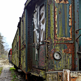 Old Trains down in As,Limburg,Belgium by Andreas van Heddegem - Transportation Trains ( old, dawn, hdr, high def, limburg, nice, as, belgium, in, trains )