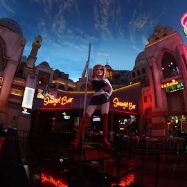 Showgirl Bar by Jose Matutina - City,  Street & Park  Amusement Parks ( las vegas, planet hollywood, nevada, showgirl bar )
