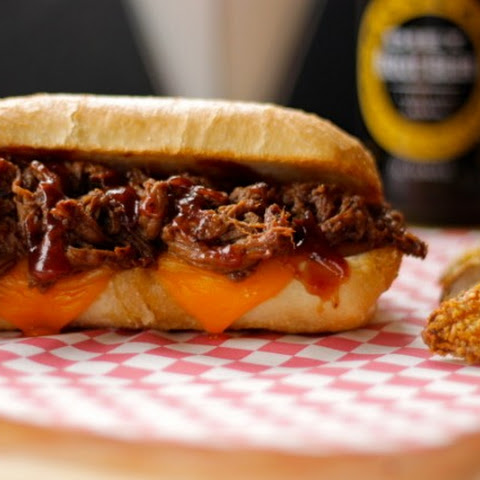 Slow Cooker Whiskey BBQ Beef Tenderloin Sandwiches