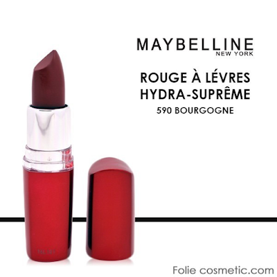acheter gemey maybelline rouge l vres hydra supreme bordeaux chez folie cosmetic dilengo. Black Bedroom Furniture Sets. Home Design Ideas