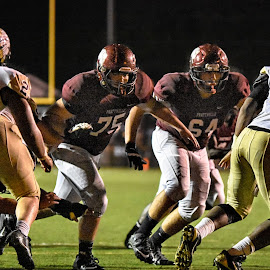 O-Line Pride by Jackie Nix - Sports & Fitness American and Canadian football ( field, kevin turner field, prattville, football, gridiron, prattville lions, stadium, action, sports, student athletes, prattville high school, stanley jensen stadium )