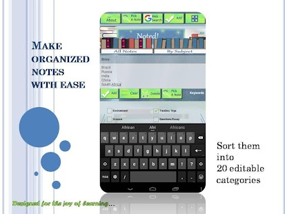 Noted! : A study notes app - screenshot