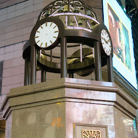 Times Square Clock  by Dennis  Ng - Buildings & Architecture Public & Historical (  )