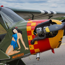 Mistress by Oscar Haraldsson - Transportation Airplanes ( airplane, events, re-enactment, celebrations, travel/session, holidays, transportation, military, armed forces, history, aviation, air force, plane, aircraft, lifestyle, historical, 2014-07-12_fly.n.ride, air plane,  )