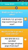 Screenshot of Learn Korean Language Guide