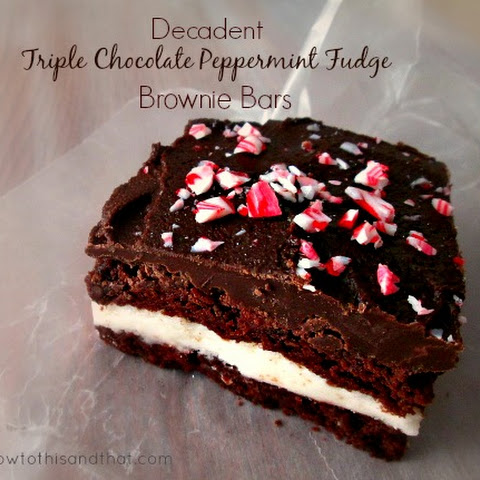 Decadent Triple Chocolate Flourless Brownies Recept | Yummly
