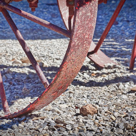 Iron Wheels by Allen Crenshaw - Digital Art Things ( wagon wheels, digital art, computer enhanced, painting, historic, iron, photography, impressionism )