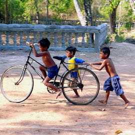 Three for the Road by Marsha Sices - Transportation Bicycles