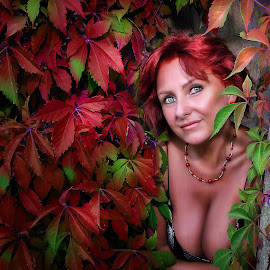 Autumn colors... by Alexandru Tache - People Portraits of Women ( model, portraits of women, art, sunlight, women, photography, street photography, love, color, lifestyle, autumn colors, fashion photography, nikon, light )