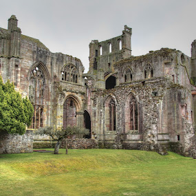 Melrose Abbey by Jon Sellers - Buildings & Architecture Public & Historical