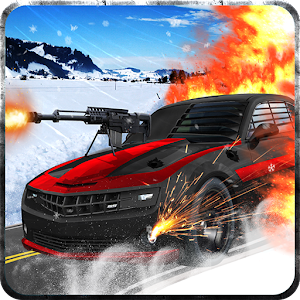 Cover art Snow Traffic Car Racing Rider