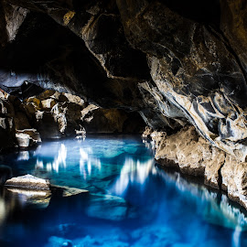 Grjotagja Cave by Sabreen Lakhani - Landscapes Caves & Formations ( grjotagja, myvatn, iceland, cave )