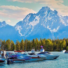 Yellow Stone lake by Srivastav Reddy - Transportation Boats