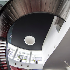 Axel stairs by Lucian Pirvu - Buildings & Architecture Homes ( home, hall, livingroom, stars, stainless, iron,  )
