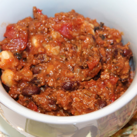 Bison Black Bean Chili for a Crowd
