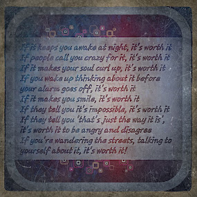 Worth it by Andreea Alexe - Typography Quotes & Sentences ( you can do it, motivational, fulfill your wishes, meme, never too late )