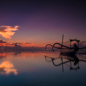 .:: z e n ::. by Setyawan B. Prasodjo - Landscapes Sunsets & Sunrises ( bali, waterscape, smooth wave, travel, beach, seascape, landscape, boat, slow speed photography, sindhu beach, blue sky, sunset, hideaway, long exposure, sunrise, catamaran,  )