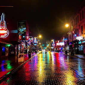 by Chuck Hagan - Instagram & Mobile iPhone ( bealestreet, memphis, blues,  )
