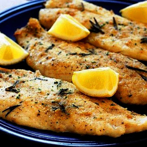 Fillet of Pollock cooked in the oven with lemon