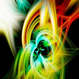 Experimental Twirl 1 by Dee Haun - Digital Art Abstract ( digital twirl, 180327f0925e3, frog prince, abstract, digital art,  )