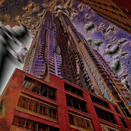 Gerry skyscraper in NY by Maks Erlikh - Illustration Buildings ( scysrapers, digitatal manupulations, ny architecture, beautiful, expressive, ny )