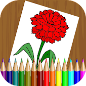 Flowers Coloring Book for Kids APK for Bluestacks