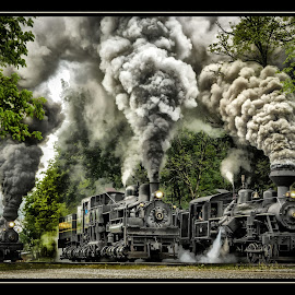 The Great Race by James Eickman - Transportation Trains (  )