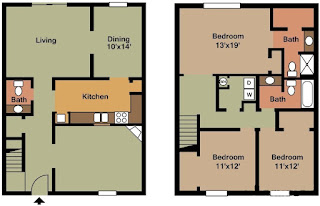 Castleton Manor Floor Plan 3 Bed 2.5 Bath 1870 SqFt