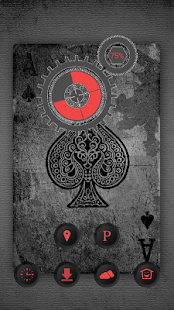 Mysterious black poker theme - screenshot