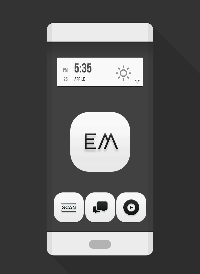 Em - Minimal White N Icon Pack Screenshot 0