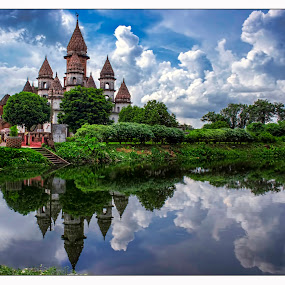 Hanseswari temple by Arpit Saha - Landscapes Travel ( temple, water reflection, india, landscapes, hanseswari temple )