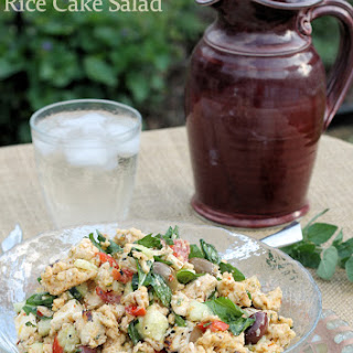 Greek Chicken and Rice Cake Salad Recipe (Gluten-Free)