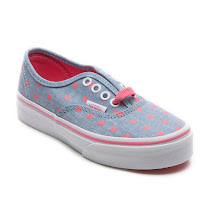 Vans Chambray Heart Trainer LACE UP