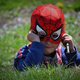 Daydreaming Superhero by Lori Gauthier - Babies & Children Child Portraits