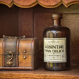 by Marco Bertamé - Artistic Objects Other Objects ( frame, wood, brown, case, bottle, letters )