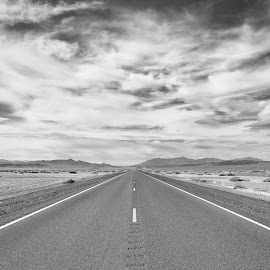 Street by Carl0s Dennis - Landscapes Travel ( death valley, black and white, california, street, travel, usa,  )