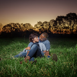 Resting by Lodewyk W Goosen (LWG Photo) - People Couples ( girl, mand, sunset, magic hour, couple, couples )