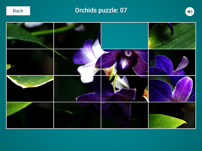 Orchids Sliding Jigsaw Screenshot
