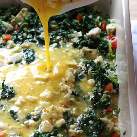 Spinach, Feta, and Artichoke Breakfast Bake