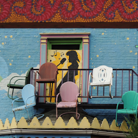 Have a Seat by Denise Guthery - City,  Street & Park  Neighborhoods