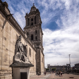 Pope John Paul II by Ole Steffensen - Buildings & Architecture Statues & Monuments ( statue, pope john paul ii, mexico city, virgin of guadeloupe, mexico, zocalo, cathedral,  )