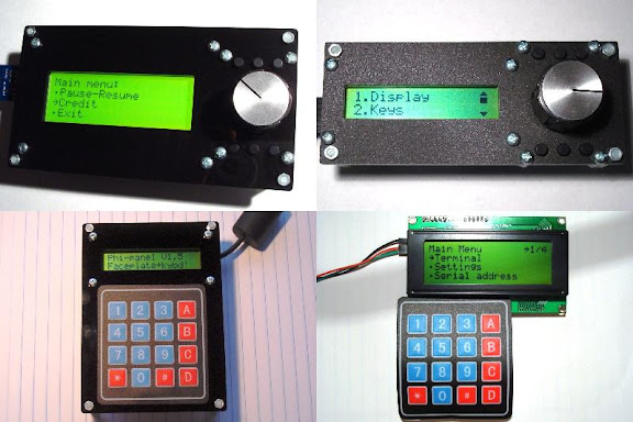 Serial LCD back pack - Phi-panel